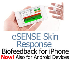eSense Skin Response GSR Biofeedback for Apple iOS and Android Devices.